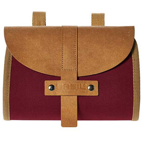 Basil Portland Saddle Bag dunkelrot